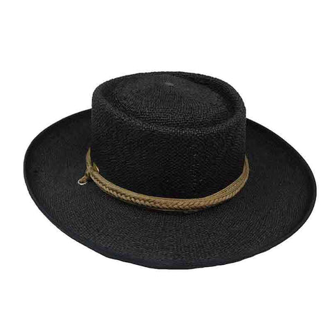 Bangkok Toyo Gaucho Hat with Tassle Tie - Scala