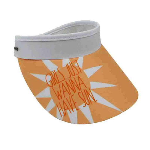 Girls Just Wanna Have Sun Visor Hat with Coil - Sun 'n' Sand
