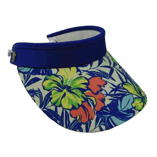 Floral CJ Hat Sun Visor with Coil Lace - Caribbean Joe