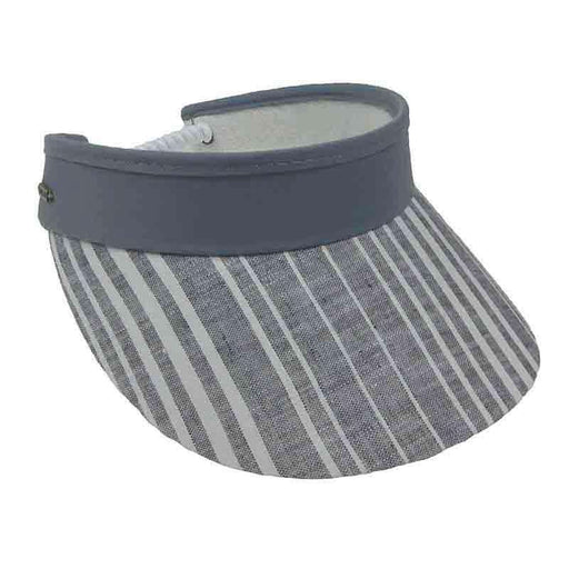 Stripes Cotton Sun Visor with Curly Coil Lace - Sun 'n' Sand