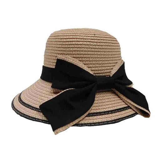 Gilr's Big Brim Summer Hat with Bow - JSA Kid's