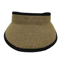 Tweed Braid Sun Visor with Elastic Closure by JSA