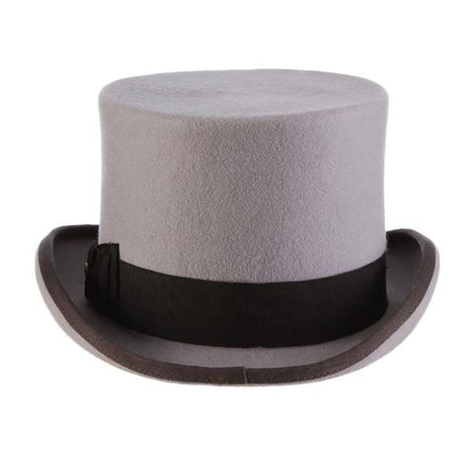 "Damon Structured Wool Felt 5.5"" Tall Top Hat up to 2XL - Scala Hat"