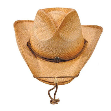 Distressed Woven Straw Cowboy Hat, XS to XL Sizes - Karen Keith Hats