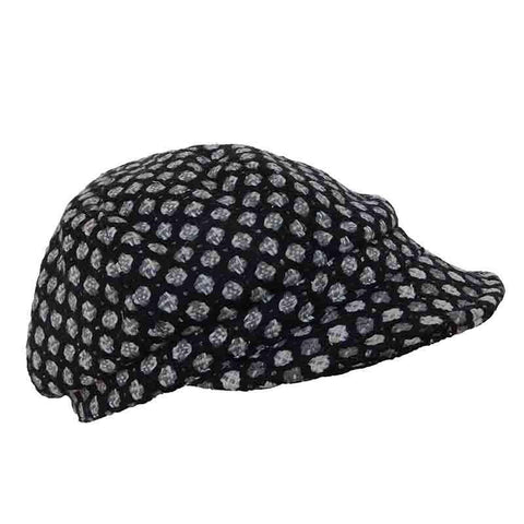 Dotted Newsboy Cap by JSA