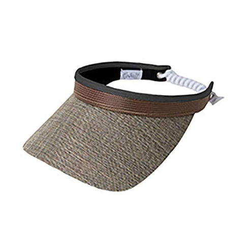 Mixed Metal Golf Sun Visor with Coil Lace by GloveIt