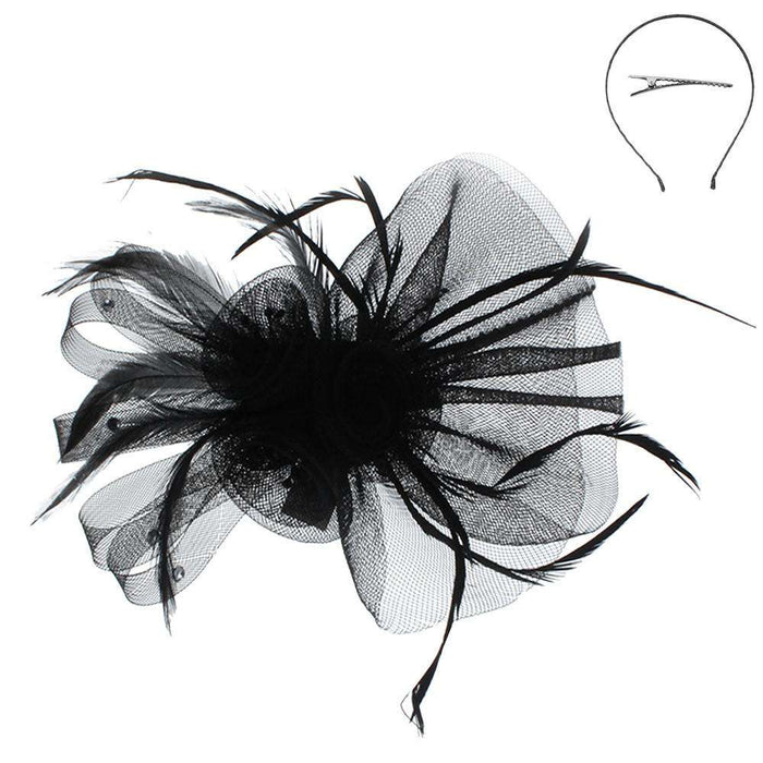 Mesh Flower Fascinator Head Band - SetarTrading Hats