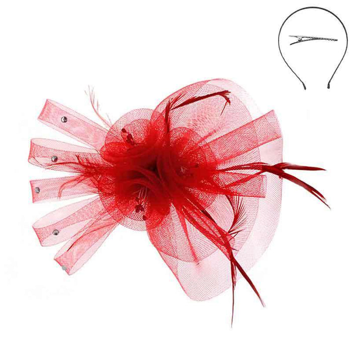 Mesh Flower Fascinator Head Band