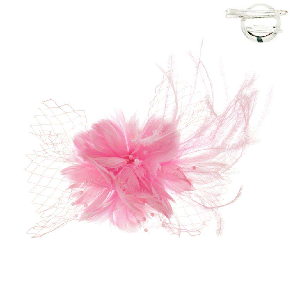 Feather Flower Fascinator-Brooch - SetarTrading Hats