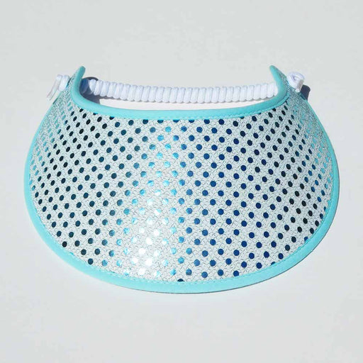 Fabric Foam Sun Visor with Glitz - Turquoise