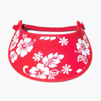Fabric Foam Sun Visor with Miracle Coil Lace - Hawaii Hibiscus
