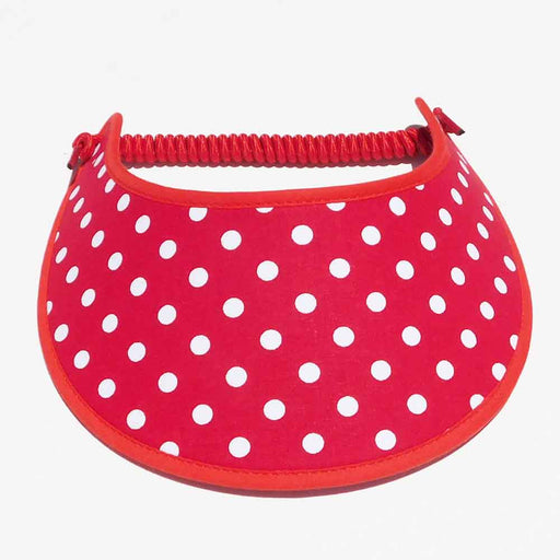 Fabric Foam Sun Visor with Miracle Coil Lace - Large Polka Dot
