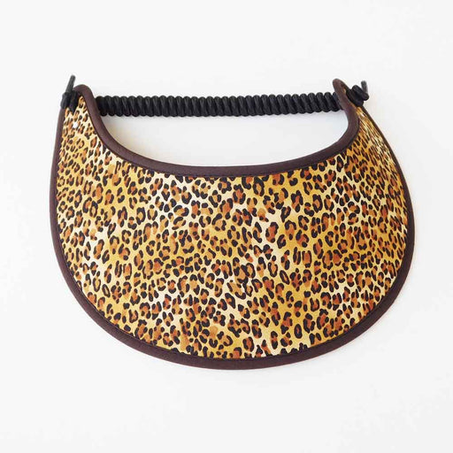 Fabric Foam Sun Visor with Miracle Coil Lace - Leopard