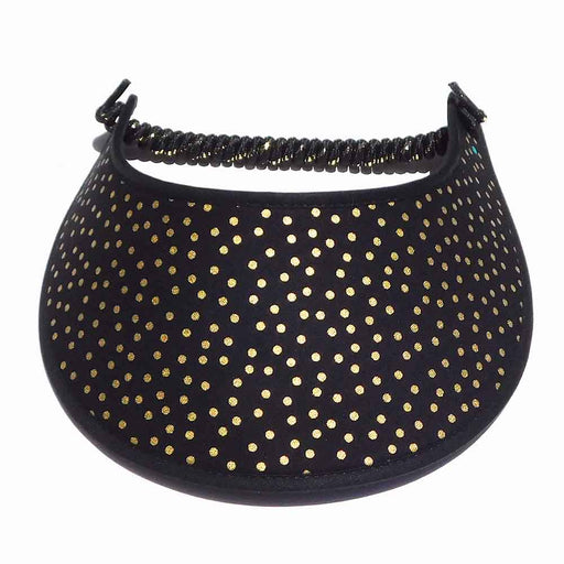 Fabric Foam Sun Visor with Miracle Coil Lace - Medium Polka Dot