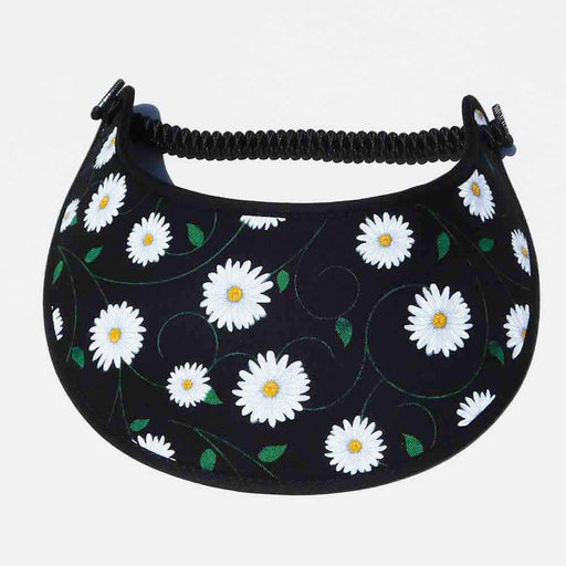 Fabric Foam Sun Visor with Miracle Coil Lace - Small Daisy