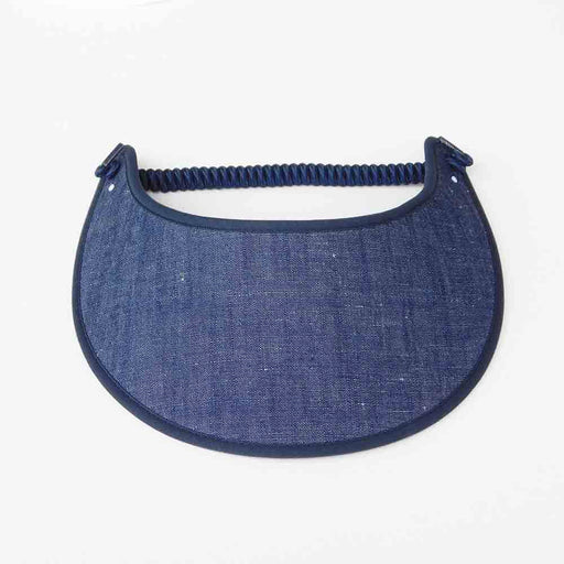 Fabric Foam Sun Visor with Miracle Coil Lace - Denim
