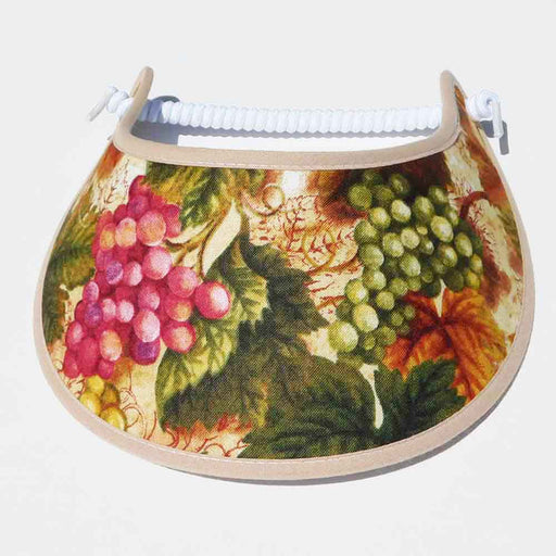 Fabric Foam Sun Visor with Miracle Coil Lace - Grapes