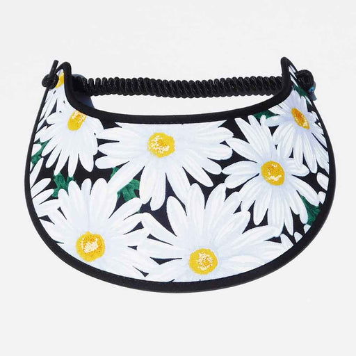 Fabric Foam Sun Visor with Miracle Coil Lace - Large Daisy