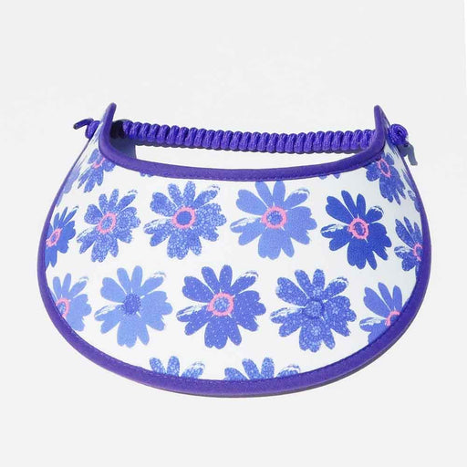 Fabric Foam Sun Visor with Miracle Coil Lace - Purple Gerbera Daisy