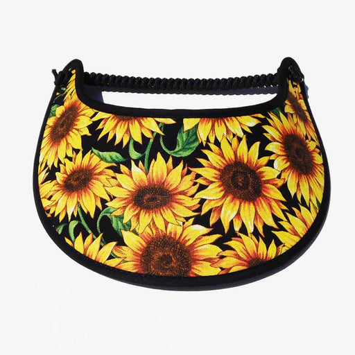 Fabric Foam Sun Visor with Miracle Coil Lace - Sunflowers