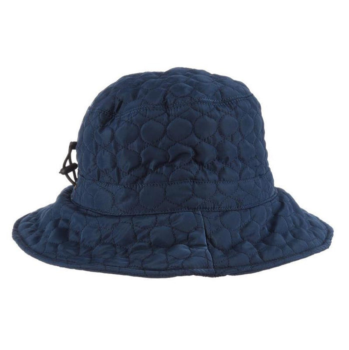 Fleece Lined Quilted Rain Hat - Scala Collezione Hats