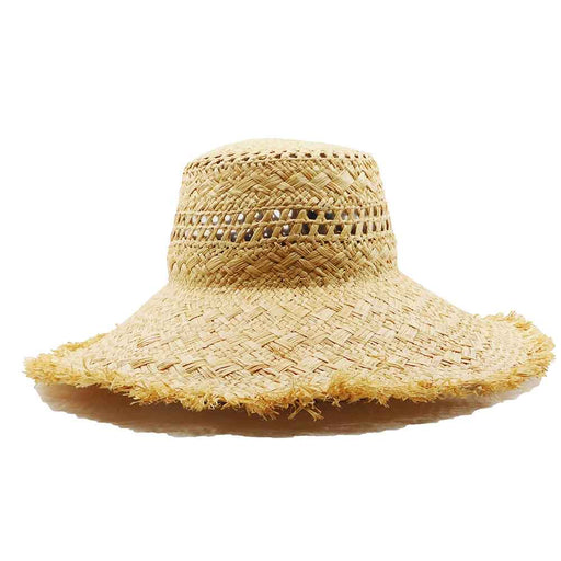 Frayed Edge Straw Bolero Hat - Brooklyn Hat Co