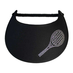 Tennis Raquet Glitz Fabric-Foam Sun Visor