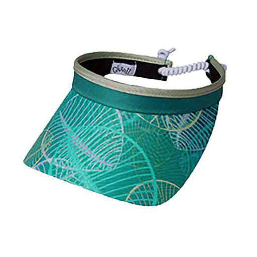 Aqua Leaf Golf Sun Visor with Coil Lace by GloveIt - SetarTrading Hats