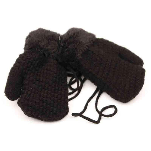 Kid's Knit Mittens with Sherpa LIning
