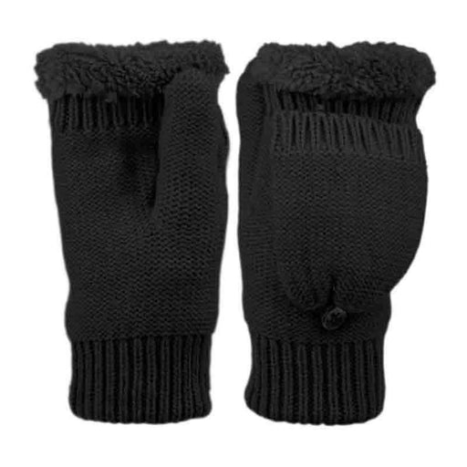 Junior Fingerless Mittens with Cover and Sherpa Lining