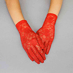 Flower Pattern Lace Gloves