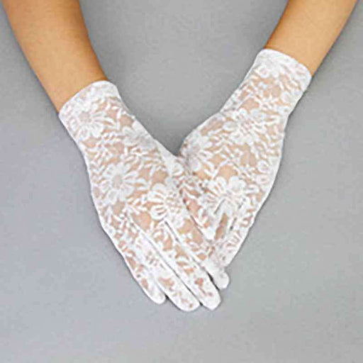 Flower Pattern Lace Gloves - SetarTrading Hats