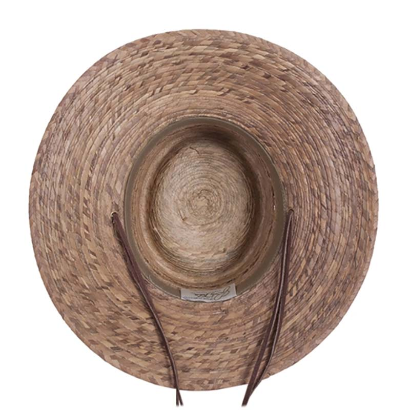Gambler Burnt Palm Leaf Sun Hat with Lattice Crown upto 2XL- Tula Hats