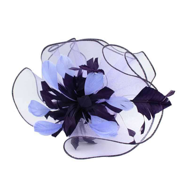Wavy Crin and Feathers Fascinator