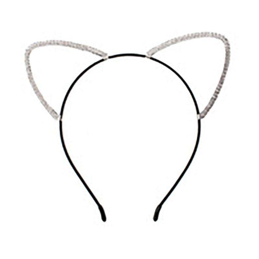 Rhinestone Studded Cat Ears Headband