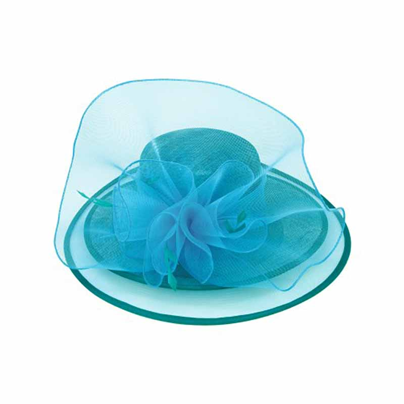Sinamay and Tulle Dress Hat with Feather Accent - Something Special Collection