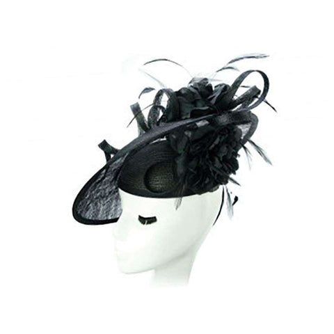 Pill Box Fascinator Hat with Floral Accent - Something Special Hat 570b3e170fc