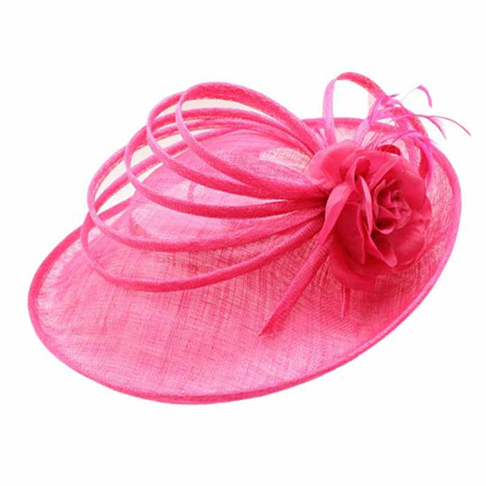 Large Sinamay Fascinator with Loops Accent
