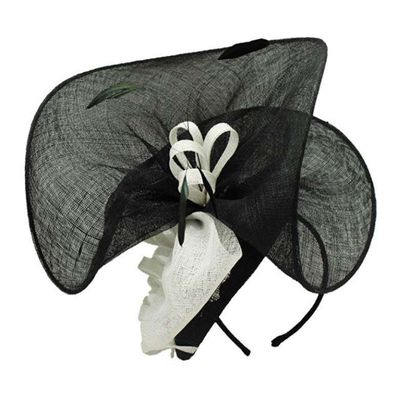 Two Tone Tall Sinamay Fascinator with Bow - Something Special Hat c3579b08db8