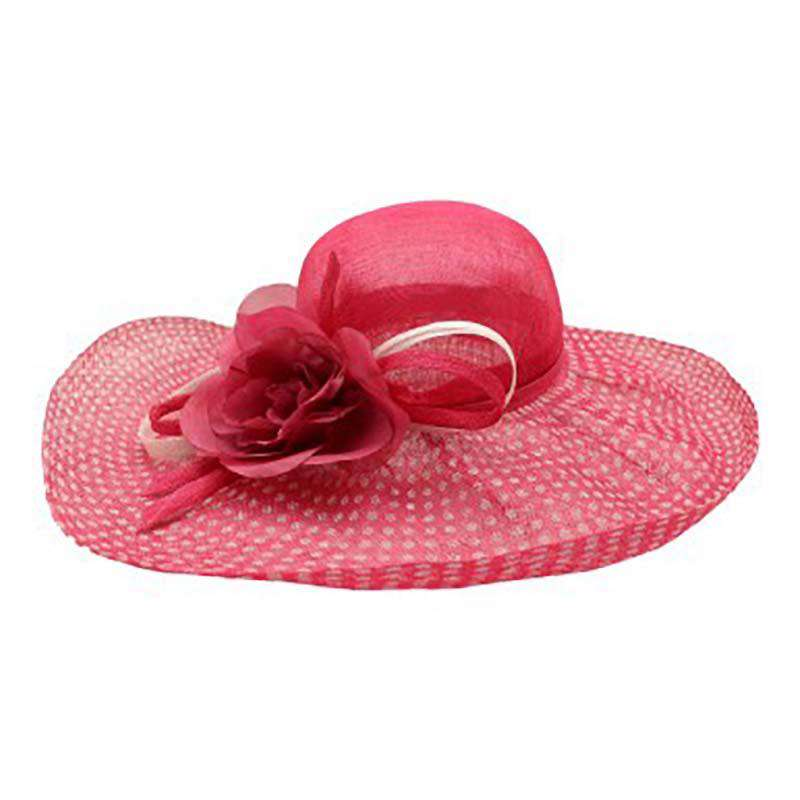 Polka Dot Brim Sinamay Dress Hat - Something Special Collection