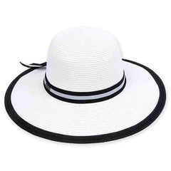 Spratley Black and White Sun Hat by Sun 'N' Sand
