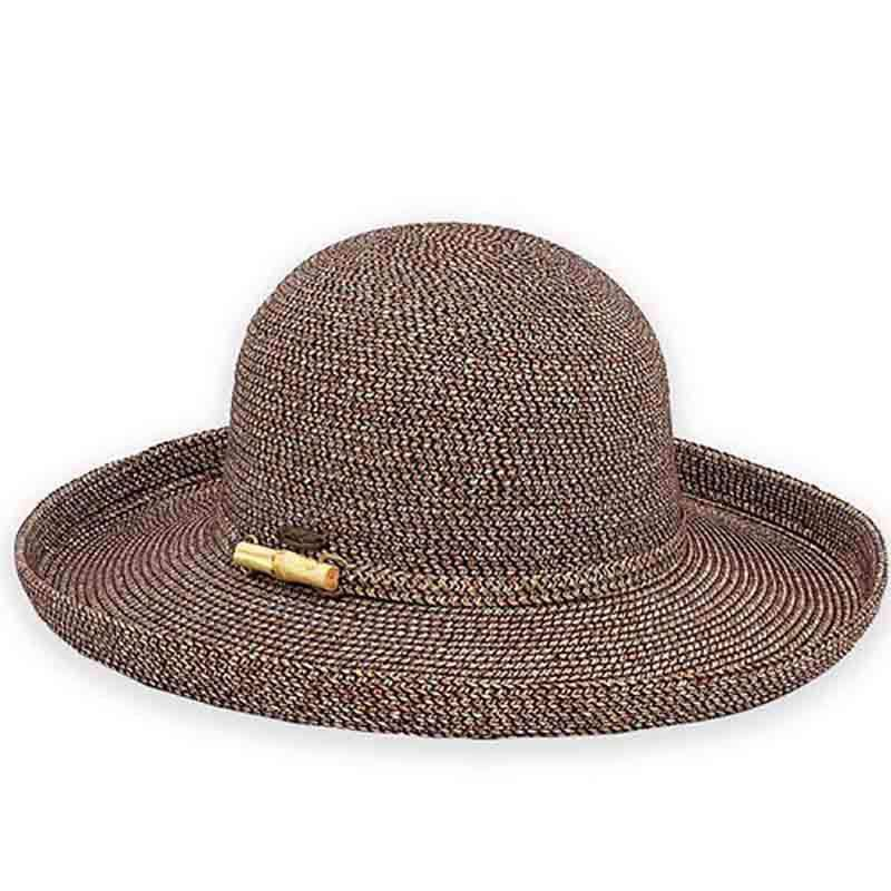 bfd3fdf3d65 Bondi Up Turned Brim Sun Hat with Bamboo Detail - Sun  n  Sand -