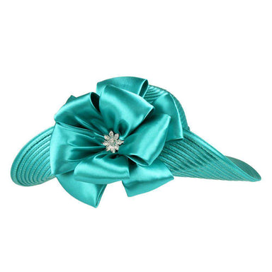 Turned Up Brim Satin Braid Hat - SetarTrading Hats