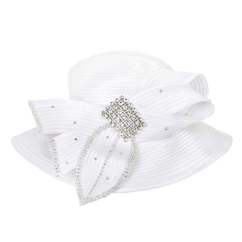 Satin Braid Hat with Rhinestone Detail - SetarTrading Hats