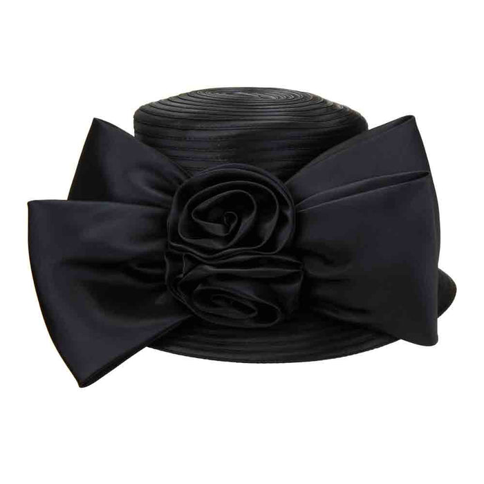Satin Braid Dress Hat with Large Bow - Something Special