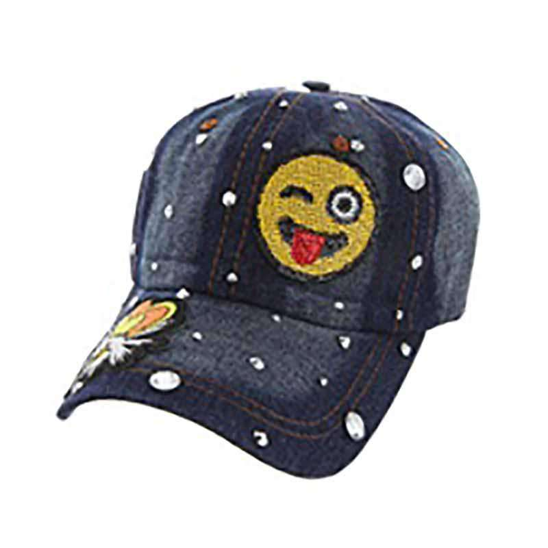 Denim Emoji Baseball Cap - SetarTrading Hats