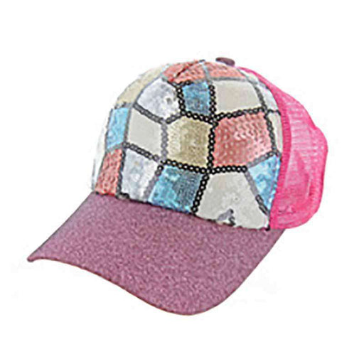 Mosaic Sequin Casual Cap for Women