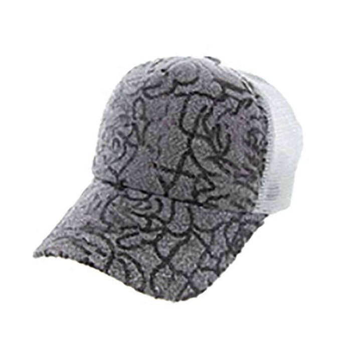 Floral Design Sequin Casual Cap for Women - SetarTrading Hats
