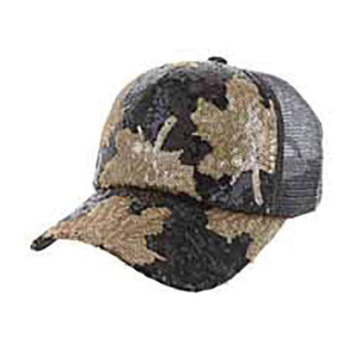 Maple Leaf Sequin Casual Cap for Women