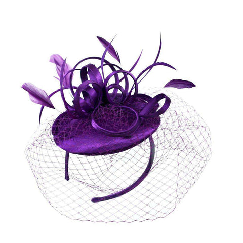 Loopy Satin Fascinator with Netting Veil